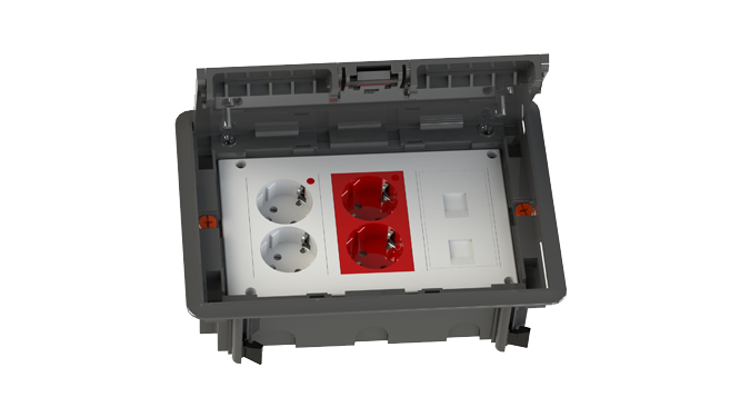Caja de falso suelo con conexión rápida CR