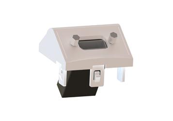 Módulo 45×45 inclinado Display Port hembra-hembra IDDPC2